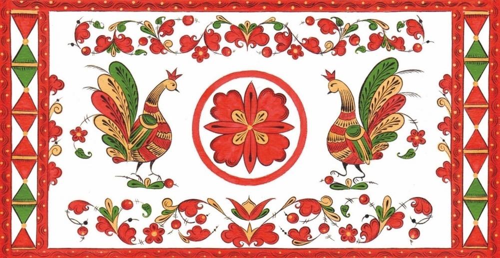 пермогорская роспись трилистник картинки паэлья